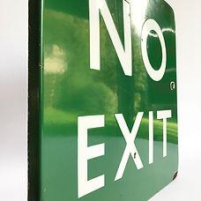 BR(S) enamel sign NO EXIT
