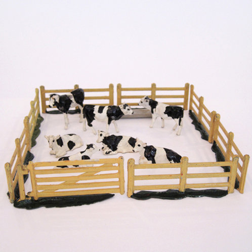 Britains Cast Metal Calves Set