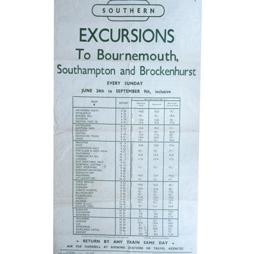 Original DR Timetable Poster BR(S)