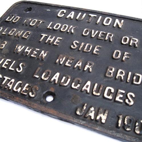 GWR Loco Cab Notice