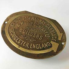 Brass works plate – Gloucester Carriage & Wagon Company Ltd.