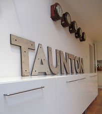 Taunton Station Running In sign