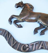 Aveling & Porter  Invicta cast brass emblem