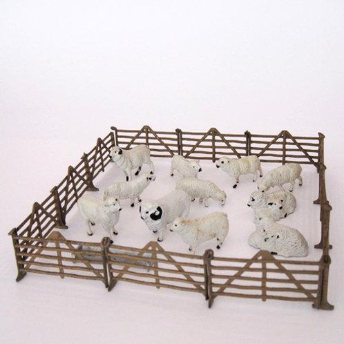 Hollow Cast Metal Sheep Set