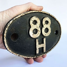 88H Steam Locomotive Shed Plate