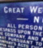 GWR fully titled enamel trespass notice