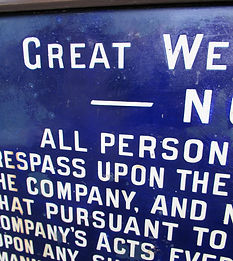 GWR fully titled enamel trespass notice