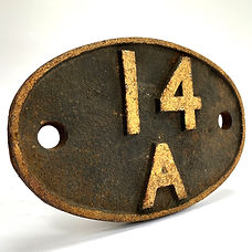 14A Steam Locomotive Shed Plate