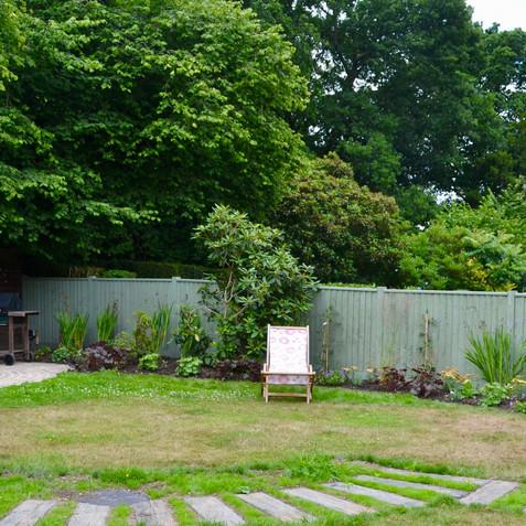 The new back garden