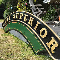 GWR reproduction Loco nameplate Lady Superior