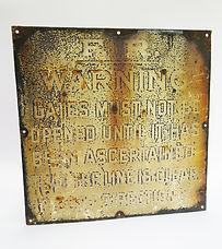 Furness Railway enamel gate sign