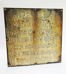 Furness Railway enamel gate sign