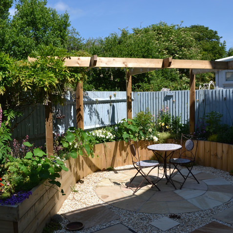 The small back garden after being designed