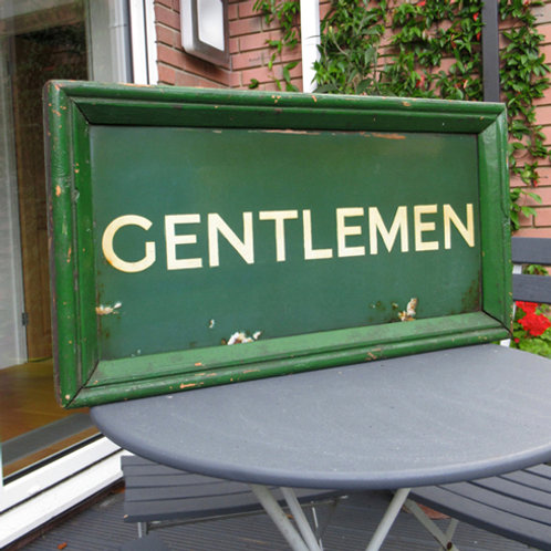 SR double sided enamel 'Gentlemen' sign