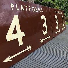 BR(W) Platforms 2,3,4 enamel signs set