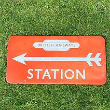 BR(NE) enamel sign STATION