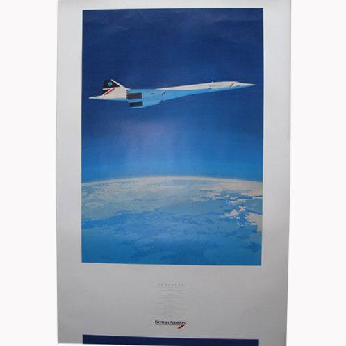 British Airways Aircraft Poster set