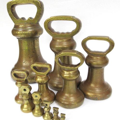 11 Brass Bell Weight Set