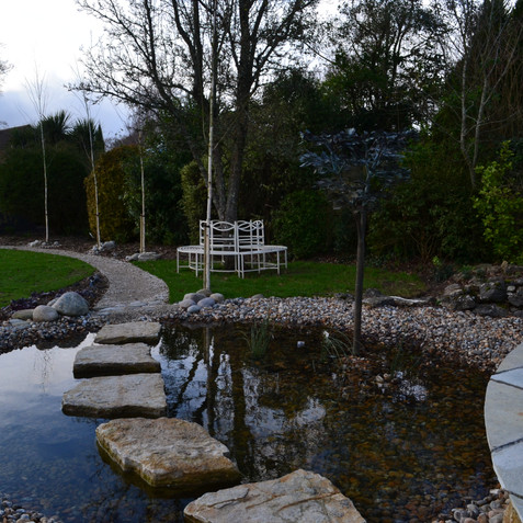 Stepping stones through the pond
