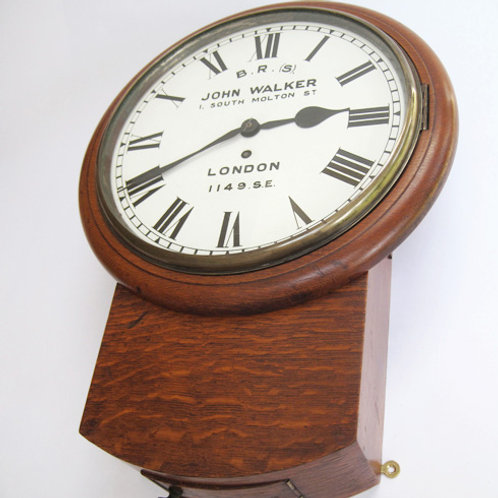 S.E&C.R drop dial wall clock