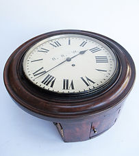 GWR 12inch mahogany cased fusee clock