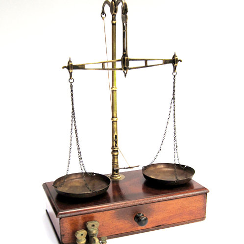 Boxed Apothecary Scales