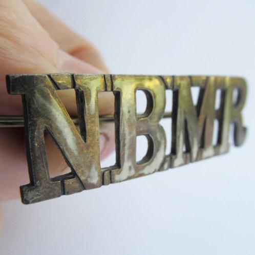 NBMR brass Cap Badge
