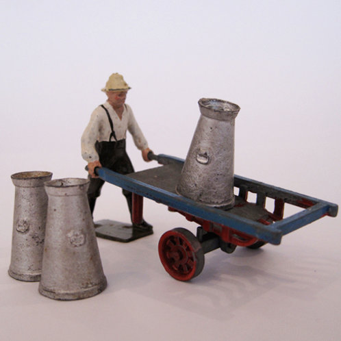 Britains Farmer with Handcart