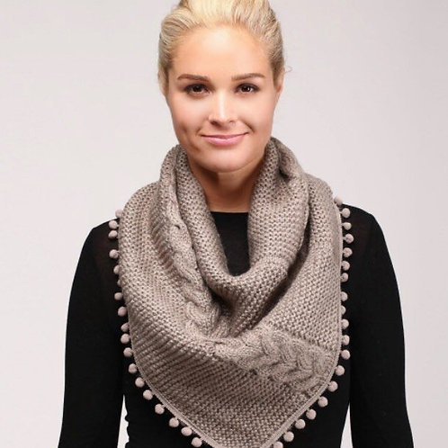 Pullover Cable Knit Scarf