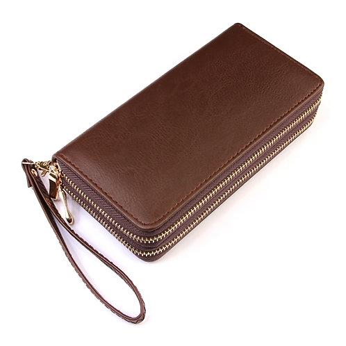 Double Zip Wristlet Wallet