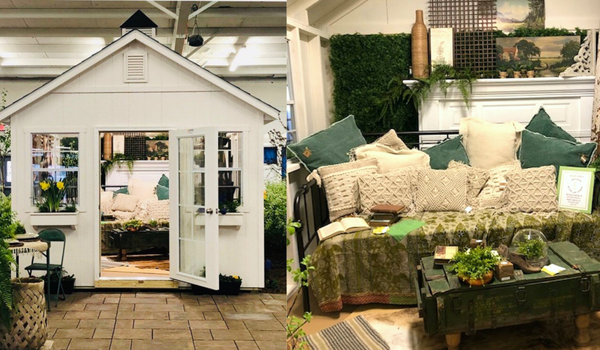 She-shed staged for the Medina Country Home and Garden Show