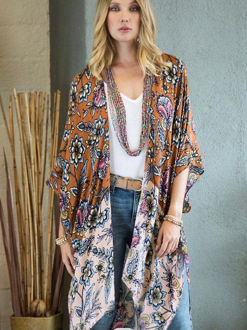 Ombre Floral Kimono