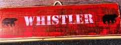 Rustic Whistler Bear Sign