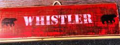 Rustic Whistler Bear Sign
