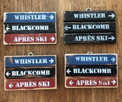 Small rustic triple signs