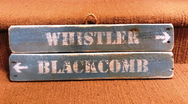 Rustic Double Ski Sign