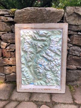 Custom 3-D Framed Map