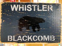 Rustic Bear Sign