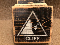 Rustic Cliff sign - small