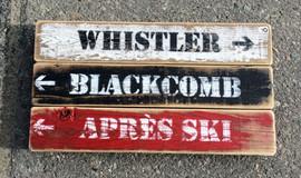 Triple Ski Sign - small
