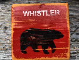 Whistler Bear Sign - small