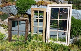 Rustic Window Mirrors