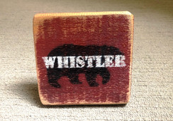 Standing sign - Whistler Bear - small