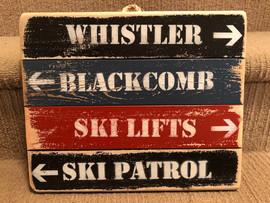 Quad Ski Sign- small