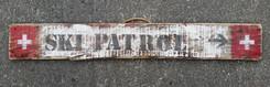 Rustic Ski Patrol Sign - Large