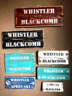 Small double rustic signs
