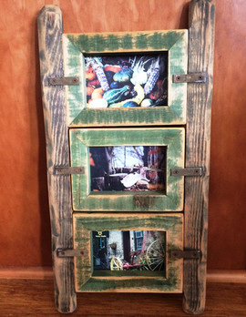 Rustic Triple Picture Frame
