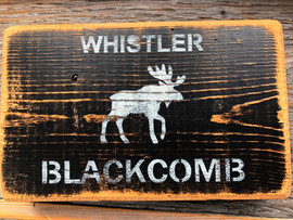 Rustic Moose Sign