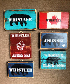 Small rustic signs
