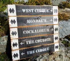 Rustic Ski Sign